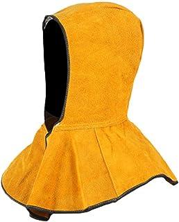 Basisago Careta para Soldar Tapa, Cuero Durable, Lavable Retardante de la Llama Cuello Protección