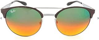 RB3545 Round Metal Sunglasses, Gunmetal/Matte Brown/Gradient Silver, 54 mm
