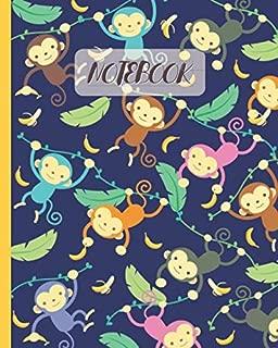 Notebook: Hanging Monkeys Cartoon & Bananas (Volume 2) - Lined Notebook, Diary, Track, Log & Journal - Cute Gift Idea for Boys Girls Teens Men Women (8