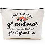 Only The Best Grandmas Get Promoted to Great Grandma-Gifts for Grandma,Grandma Birthday Gifts,Grandma gifts from Grandchildren,Grandma's Makeup Bag