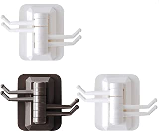 Self-Adhesive Hooks for Hanging Wall Hooks Adhesive Hooks Without Drilling Stainless Steel for Bathroom, Office, Toilet, K...