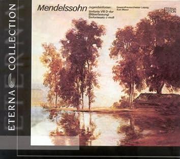 MENDELSSOHN, F.: String Symphony No. 8 (Original version and version with winds) [Leipzig Gewandhaus Orchestra, Masur]