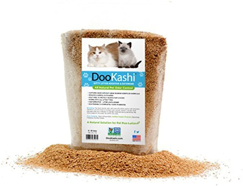DooKashi for Cats Litter Additive Extender & Odor Remover, 1 lb