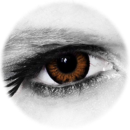 * BIG * SEXY * SWEET * farbige Kontaktlinsen - braun - inklusive gratis Kontaktlinsenbehälter von DarXity, mit und ohne Stärke für schöne große Augen - Big Eyes Mangalinsen – Sweet Honey, 2 Stück / BC 8.6 / DIA 15.0 / -2.75 Dioptrien