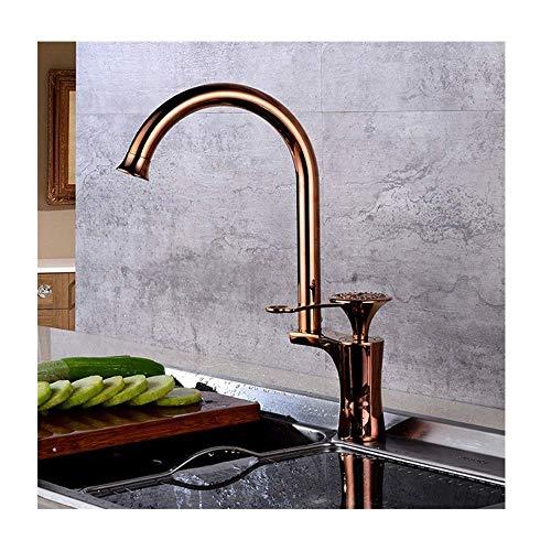 YBQ. Messing Waschbecken Mixer Wasserhahn Küchenarmatur Einhand Deck montiert Einzigartiges Design Wasserhahn, C.