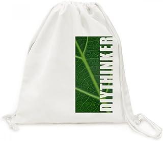DIYthinker Dunkelgrüne Pflanze Natur Illustration Muster-Segeltuch-Rucksack-Reisen Shopping Bags