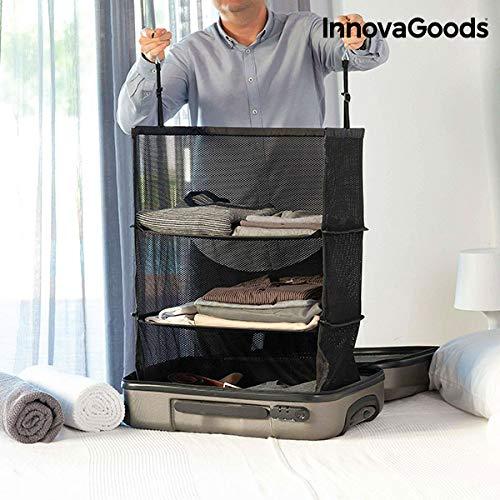 MIND Travel organizer voor koffer - Hangende plank | Innovatieve en snelle manier om je reiskleding op te bergen | binnen enkele seconden inpakken en uitpakken | Closet hanger