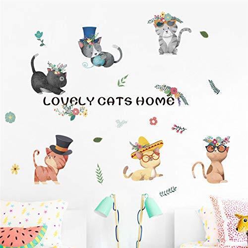 ELGDX Etiqueta Pared Gatos encantadores casa Habitaciones