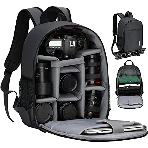 TARION Camera Bag Professional Camera Backpack Case with Laptop Compartment Waterproof Rain Cover for DSLR SLR Mirrorless Camera Lens Tripod...
