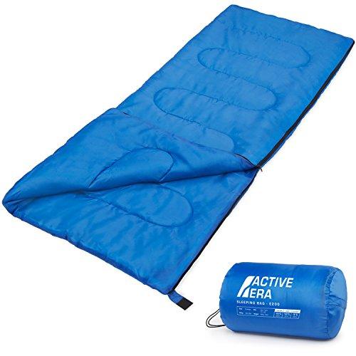 Premium-Deckenschlafsack, leicht Schlafsack mit Reißverschluss Indoor und Outdoor Camping Schlafsack für Erwachsene und Kinder Leichter Sommer-Blau