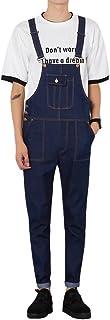 [eleitchtee] オーバーオール メンズ つなぎ オールインワン サロペット デニムパンツ ロング 008-jjcc-k130(L ブルー)