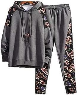 Men's Casual 2 Pieces Sports Sets Tops & Pants Active Tracksuit Set Jogging Sweatsuit Sportswear