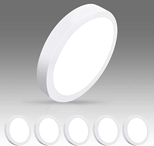 high quality DLLT Modern LED Flush Mount Panel Ceiling Light, 1400LM 18W Round Surface Mounted Ceiling Lights 5000K Wall Light Fixture for Closet, popular Kitchen, Hallway, Bathroom 5 Packs Lighting Daylight popular White online