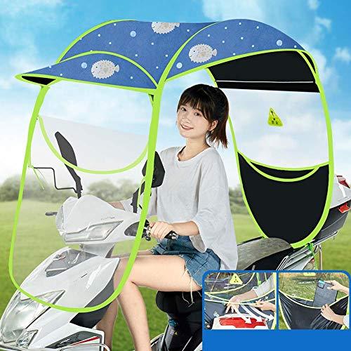 Universele elektrische motorfiets regenhoes luifel, regendicht zonnescherm, voor scooters, batterijwagen, motorfiets