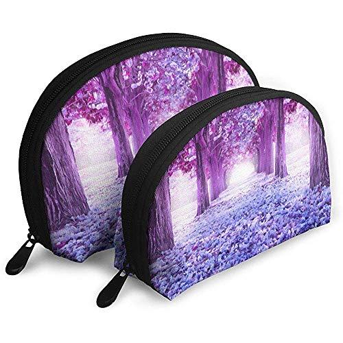 Blossom Flower Park Road Sakura Tragbare Taschen Kosmetiktasche Kulturbeutel Tragbare Multifunktions-Reisetaschen mit Reißverschluss