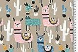 Stoffe-Online-Shop Softshell Lama, bunt
