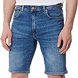 Wrangler Texas Shorts Pantalones Vaqueros, De-Lite Blue, 36 para Hombre