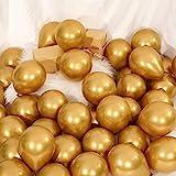 Sumind 100 Piezas Globos Metálicos Oro de 5 Pulgadas Globos de Látex Decorativa para Decoración de Fiesta Festival Compromiso Boda Cumpleaños
