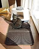 Furry Fellow Katzenklo Matte 70x55 cm – inklusive Stofftasche - Zweilagige Katzenstreumatte im Waben Muster