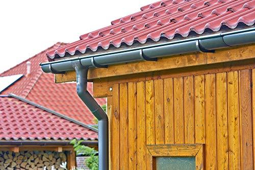 Marley Dachrinnen Set Kastenrinne Rg 70 1x3m anthrazit RAL 7016 mit Fallrohr Dachrinne Rinnensatz Regenrinne