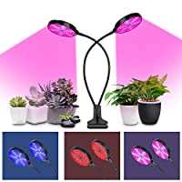 Guomao LED植物成長ライト赤と青のスペクトル30W高出力補助光5レベル調光タイミング