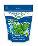 SoundHealth Sugar-Free Cough Drops, Cough Suppressant Throat Lozenge, Menthol, 140 Count Bag