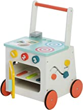 labebe Children 2-in-1 Little Play Kitchen Wooden Push Walker Toddler Push & Pull Toys Activity Walker Stroller Walker Toy Wagon with Wheels for Baby Girls Boys 1-3 Years Old