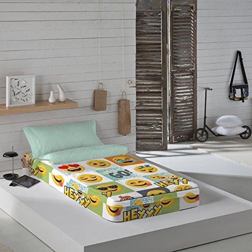 Emoji Hey - Saco nórdico para cama de 90 cm (con relleno)