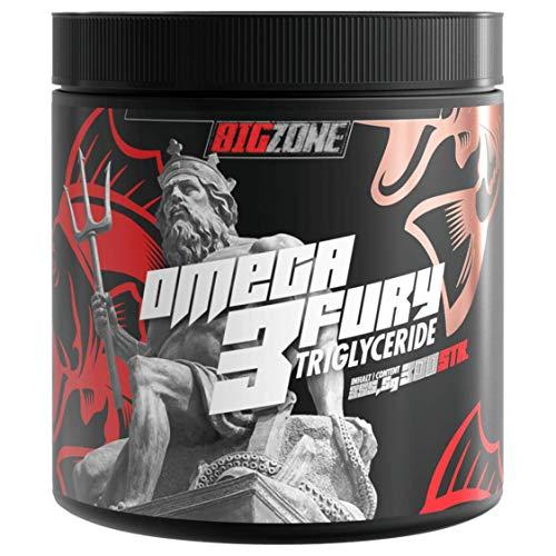 Big Zone Omega 3 Fury Triglyceride Hochwertige Triglycerid Form Keine Zugabe von Vitamin E 500mg EPA 250mg DHA / pro Kapsel | 300 Kapseln