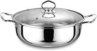 Stainless Steel Casserole, Multifunction With lid Stock Pot Non-Stick Stockpot Induction cooker General purpose-32cm