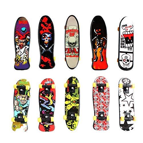 Fingerskateboard skateboard board board games Children's Educational Toys Mini Finger Skateboard Alloy Skate Boarding Toys Random Color Creative Fingertip Movement Finger Board