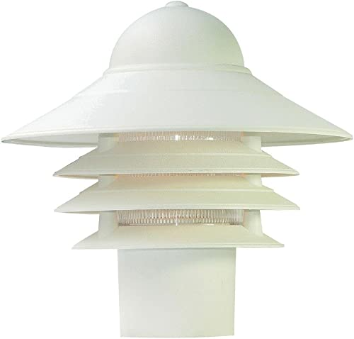 high quality Acclaim popular 87TW Mariner Collection 1-Light Post Mount Outdoor discount Light Fixture, Textured White outlet online sale