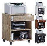 VCM Rollcontainer Bürocontainer Schubladenschrank Büroschrank Schublade Salda Weiß