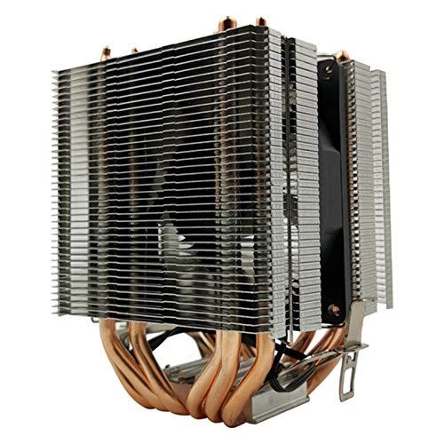 Radiador del ventilador Radiador de la CPU 6 de cobre puro de la pipa de calor Torre de refrigeración Sistema de 9 cm ventilador de la CPU de la CPU del radiador, conveniente for AMD Intel refrigeraci