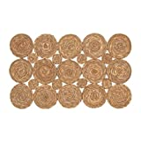 Vidal Regalos Alfombra Rectangular de Fibra Circulos 120 cm