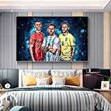 qianyuhe Canvas Print Paintings Ronaldo Messi Neymar