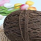 BBZ 200 g/Lote Hilo orgánico para Tejer Rafia Hilo de Cuerda de Paja Hilo de Ganchillo sólido para Sombreros Hechos a Mano cestas cestas artesanías, café
