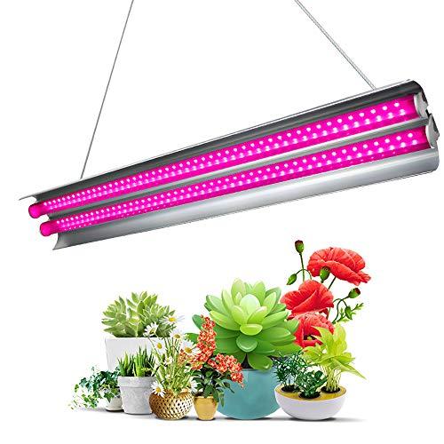 FORNORM 60W LED Pflanzenlampe Vollspektrum, 96pcs SMD2835 LED Wachstum Pflanzenlicht IP44 Wasserdicht, Gute Wärmeableitung Wachsen Lichtleiste für Zimmerpflanzen, AV 85-265V, 7000K