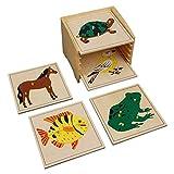 Montessori-Store Cabinet de 5 Puzzles de zoologie