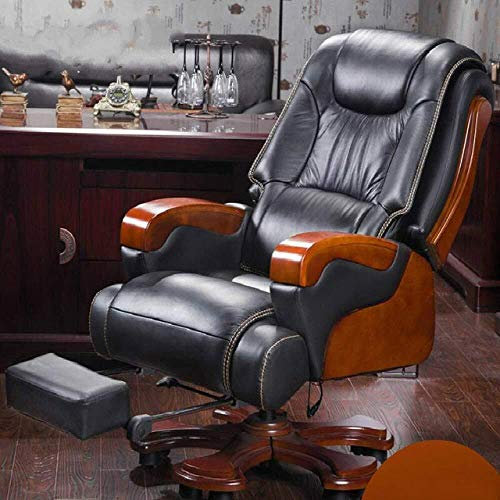 LUCY STORE High-Back Executive Swivel Office Desk Chair,Home Computer Chair Rotating Luxurious Office Chair Comfortable Household Leisure Massage boss Chair,Black Massage,WTGJZN
