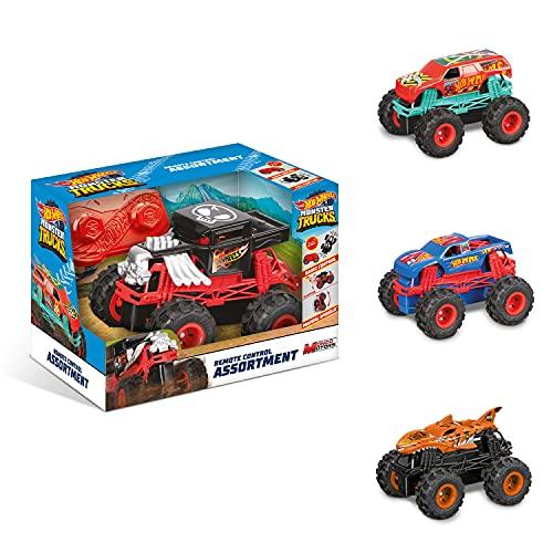 Mondo -63683 Mondo Motors Mini Monster Trucks-4 Modelos-Coche teledirigido para niños 2.4 GHz Surtidos -Envío Aleatorio -63683, Color Livrea Hot Wheels, 63683