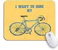 ROSECNY 可愛いマウスパッド ヒップスターヴィンテージ自転車自転車バイクサイクリングボードサイクルノンスリップゴムバッキングマウスパッドノートブックコンピュータマウスマット