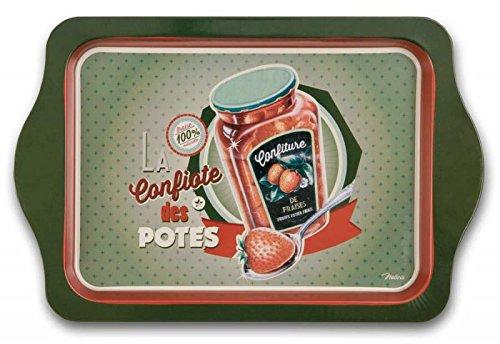 NATIVES Assiette porte-tasses à café verres liqueur type Vintage 510570 CONFIOTE DES POTES