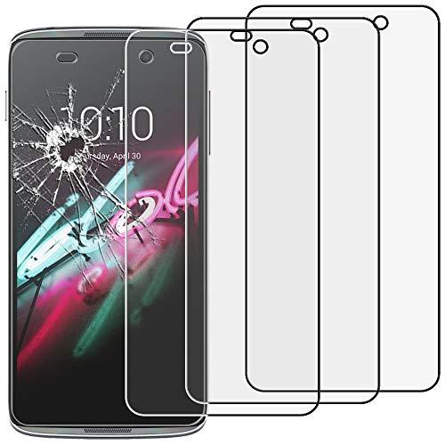 ebestStar - kompatibel mit Alcatel Idol 3 Panzerglas x3 Idol 3 4.7 Schutzfolie Glas, Schutzglas Bildschirmschutz, Bildschirmschutzfolie 9H gehärtes Glas [Idol 3: 134.6 x 65.9 x 7.6mm, 4.7'']