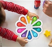 Hpory Simple Fidget Toy, Push Bubble Fidget Sensory Squeeze Toys voor kinderen Volwassenen Fidget Toys Silicone Squeeze...