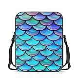 Chaqlin - Borsa a tracolla per bambini e bambini, alla moda, da viaggio, Bilancia a forma di sirena. (Multicolore) - S--CC6195E-30