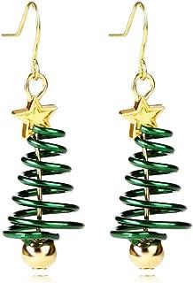 AMAZYJ Christmas Tree Earrings Tree Dangle Hook Christmas Earrings Holiday Party Drop Earrings Small Cute Christmas Costume Jewelry for Women Girls