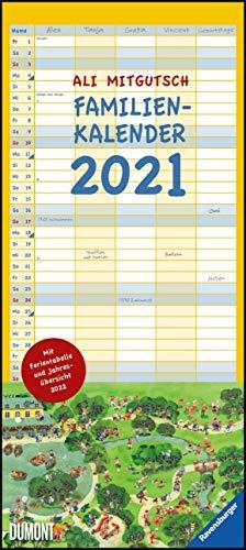 Ali Mitgutsch Familienkalender 2021 – Wandkalender – Familienplaner mit 5 Spalten – Format 22 x 49,5 cm