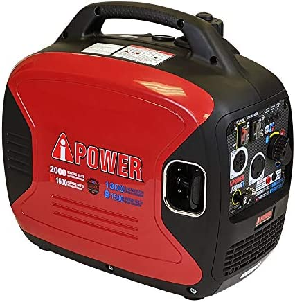 A iPower SUA2000iD 2000 Watt Portable Inverter Generator Gas Propane Powered Small with Super product image