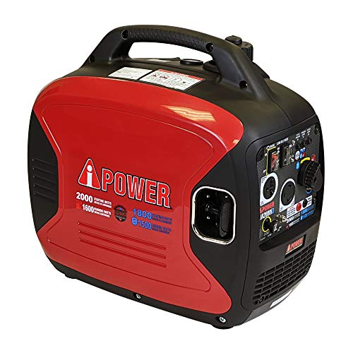 A-iPower SUA2000iD 2000 Watt Portable Inverter Generator Gas & Propane Powered, Small with Super Quiet Operation for Home, RV, or Emergency